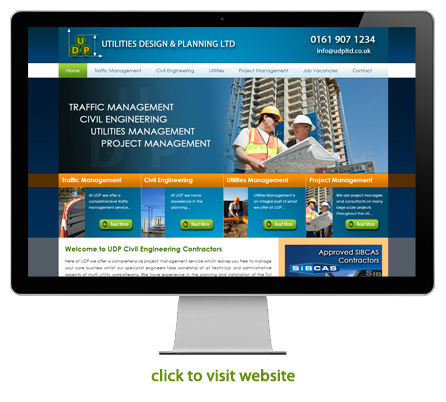 civil engineering and construction website design example 1