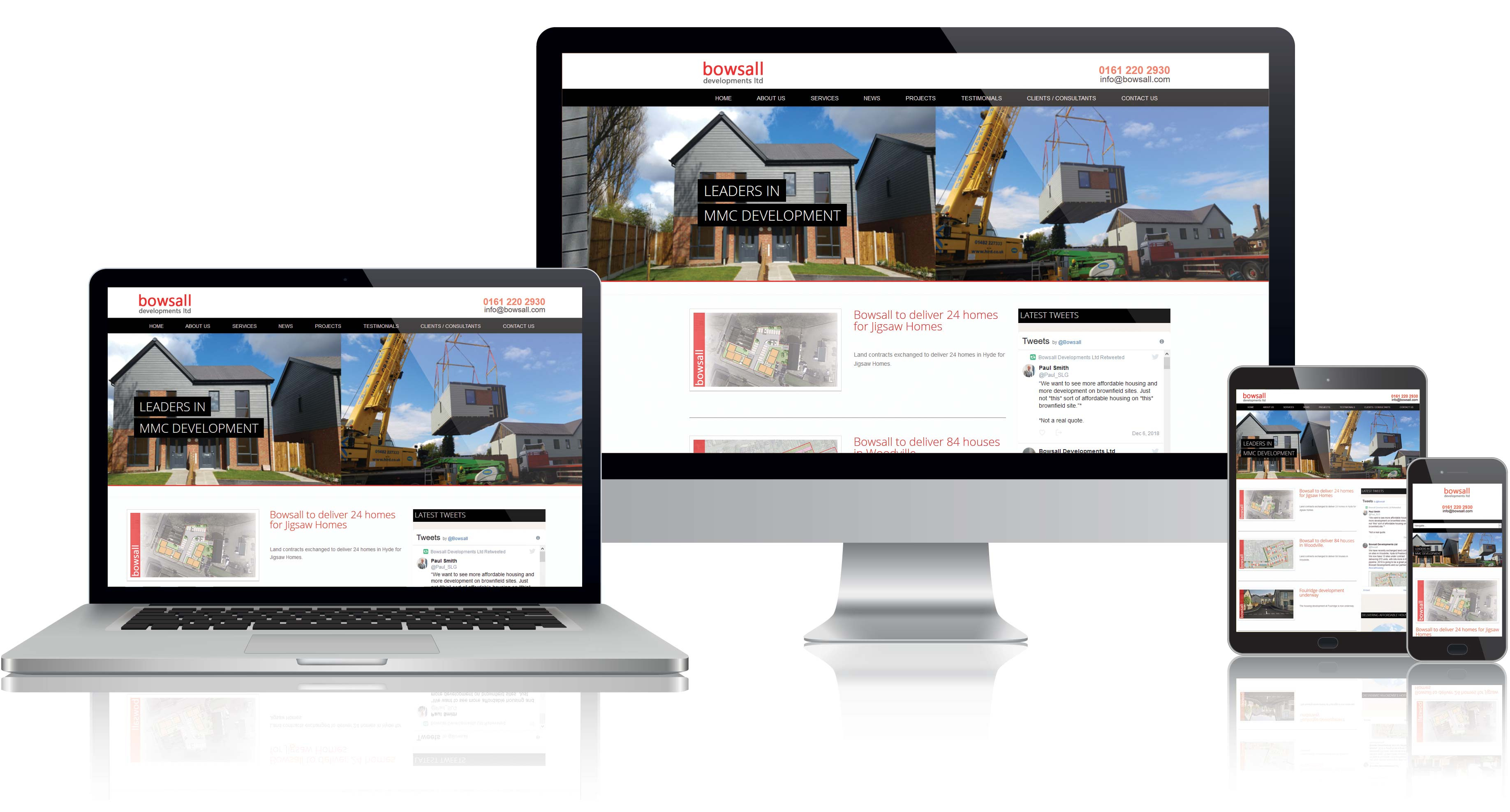 Website Design for bowsall developments