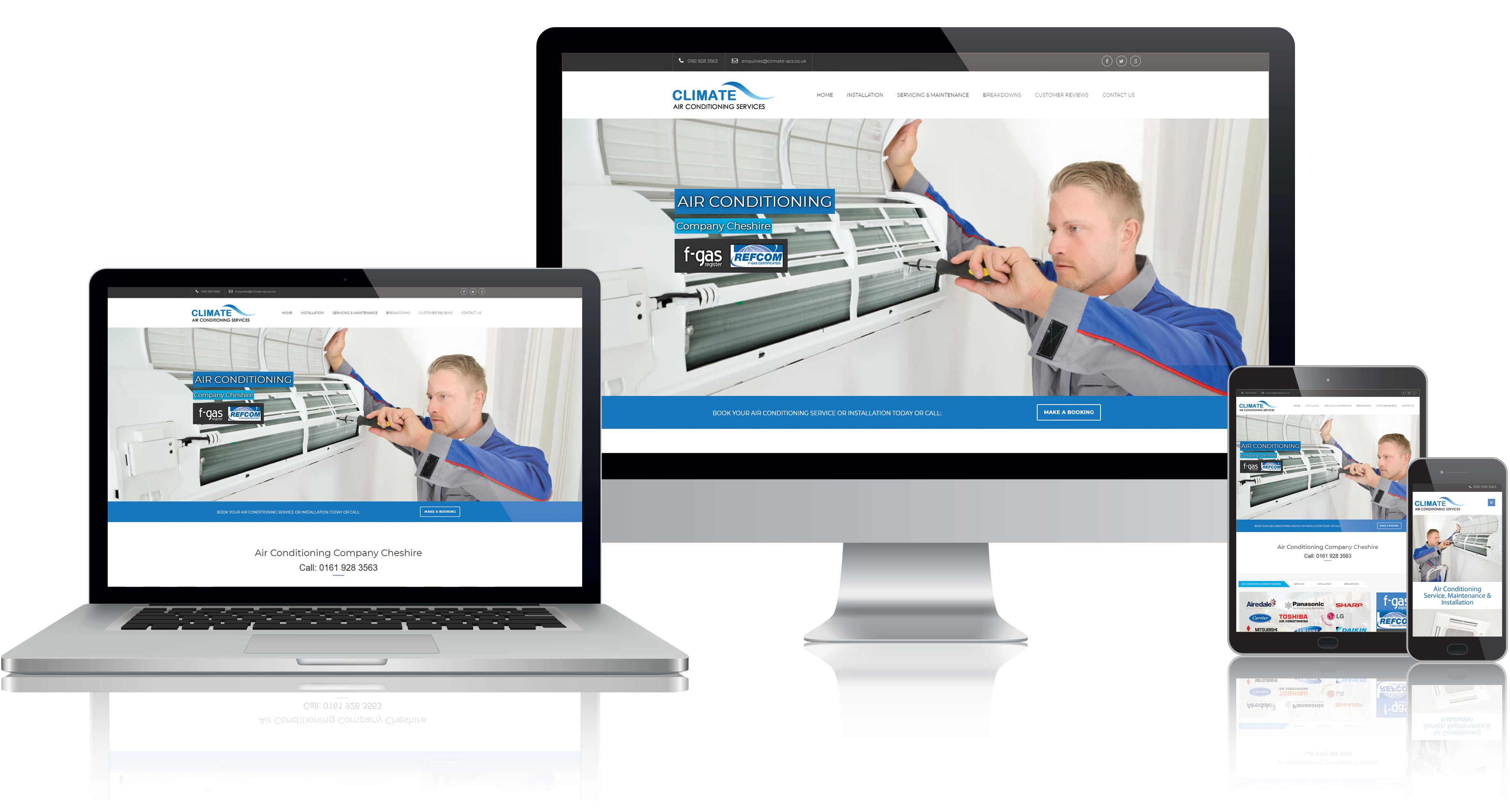Website Design for Climate ACS in Altrincham
