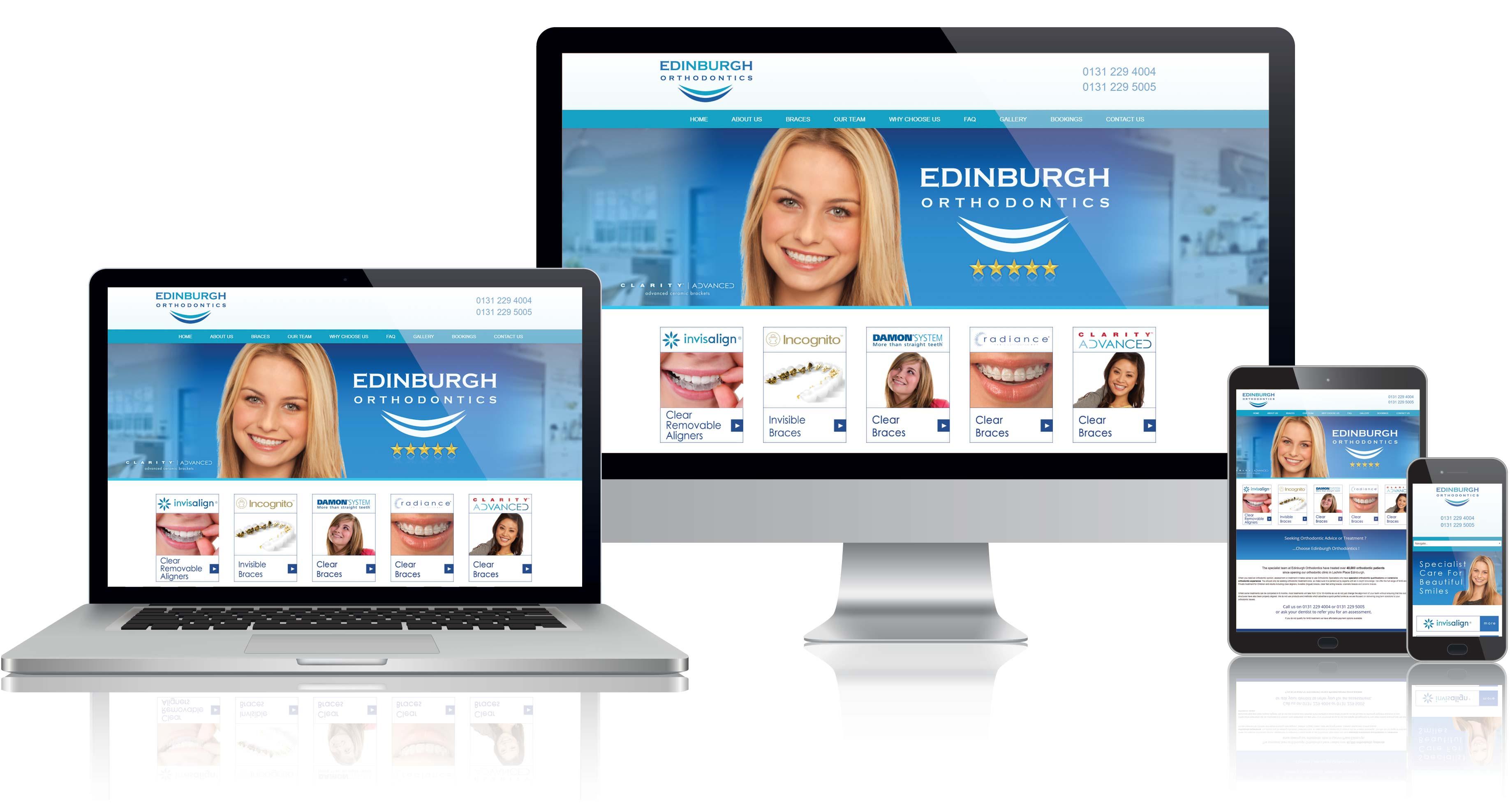 Website Design for Edinburgh Orthodontics