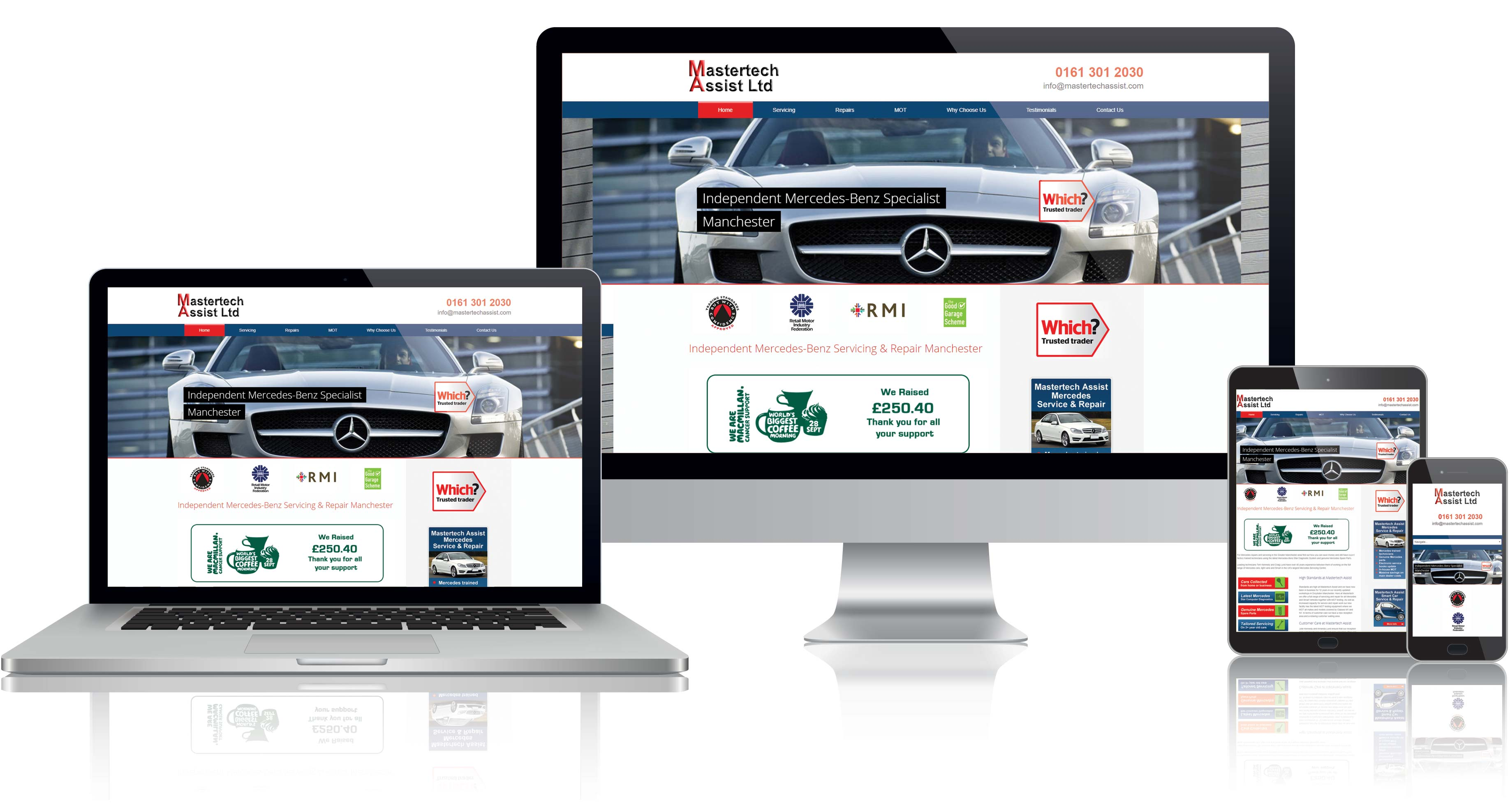 Website Design for Mastertech Assist in Manchester