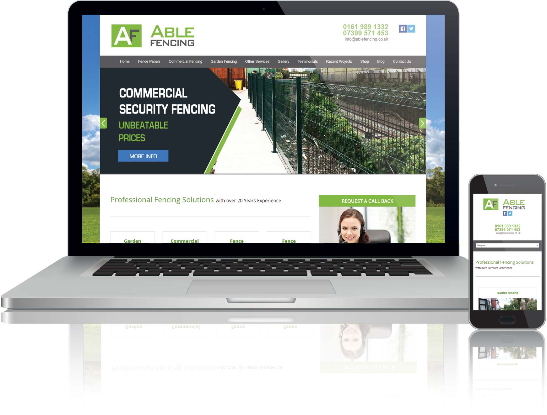 website design and seo for able fencing