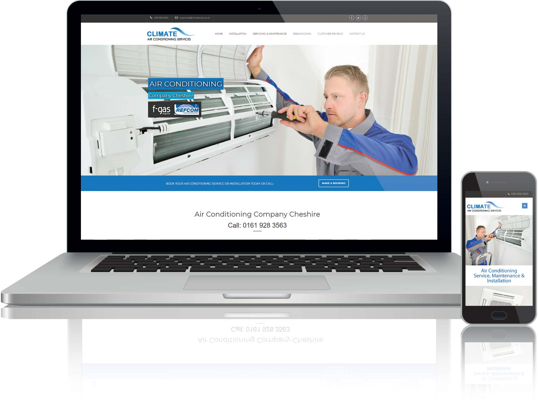 website design and seo for air conditioning company