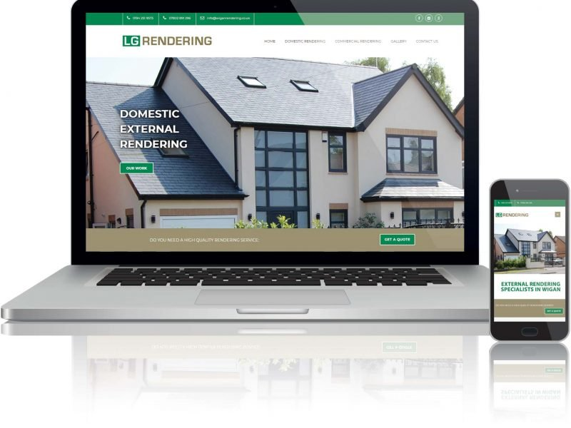 website design for rendering company