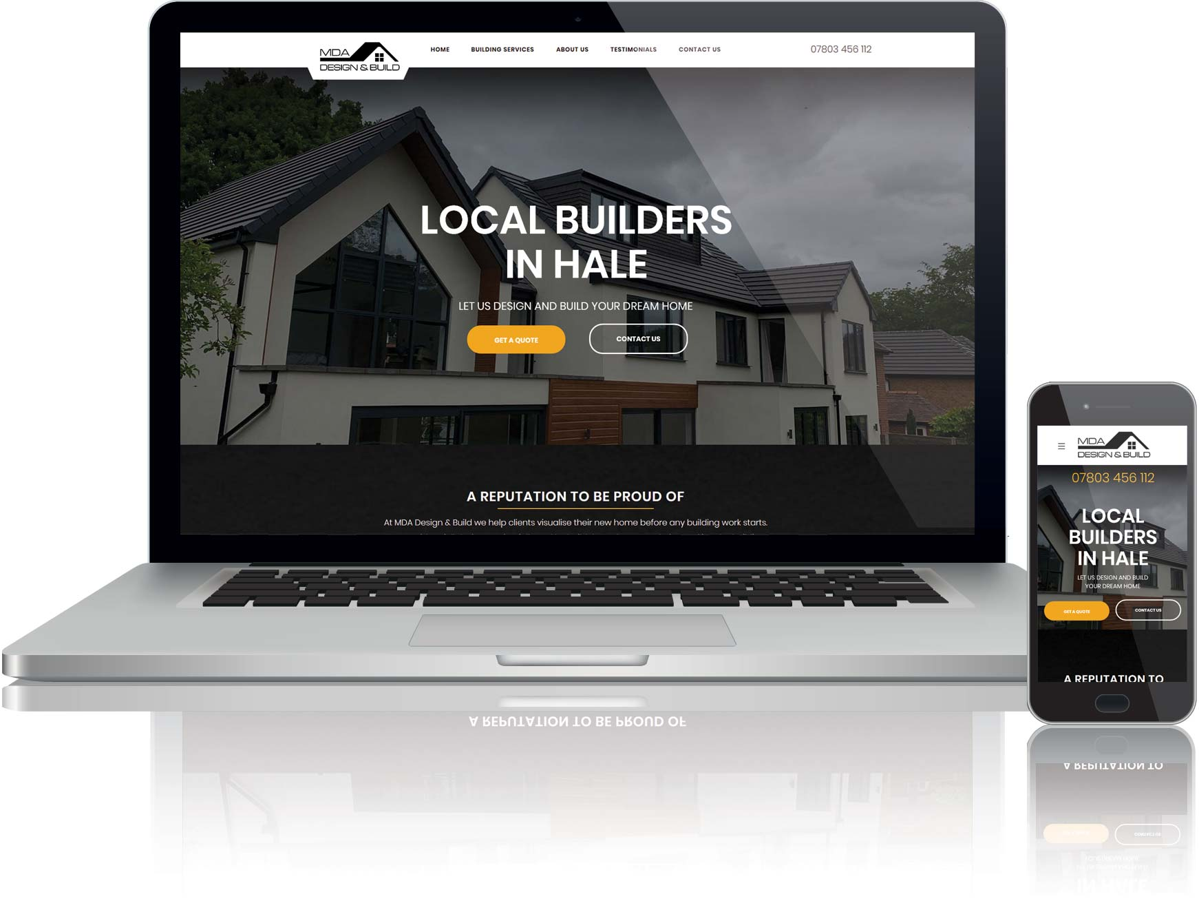 website design for building company
