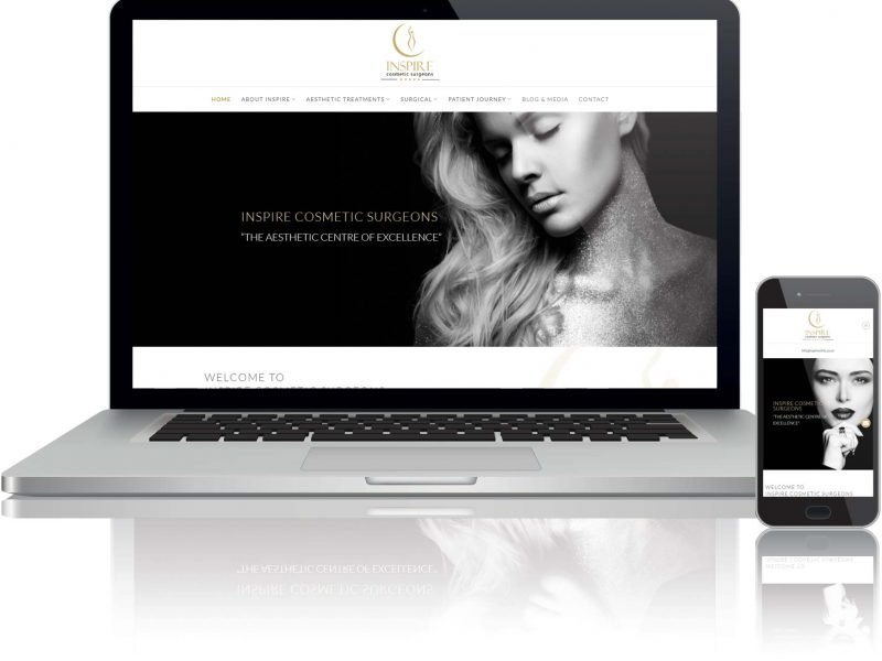 website design for cosmetic surgeons in altrincham