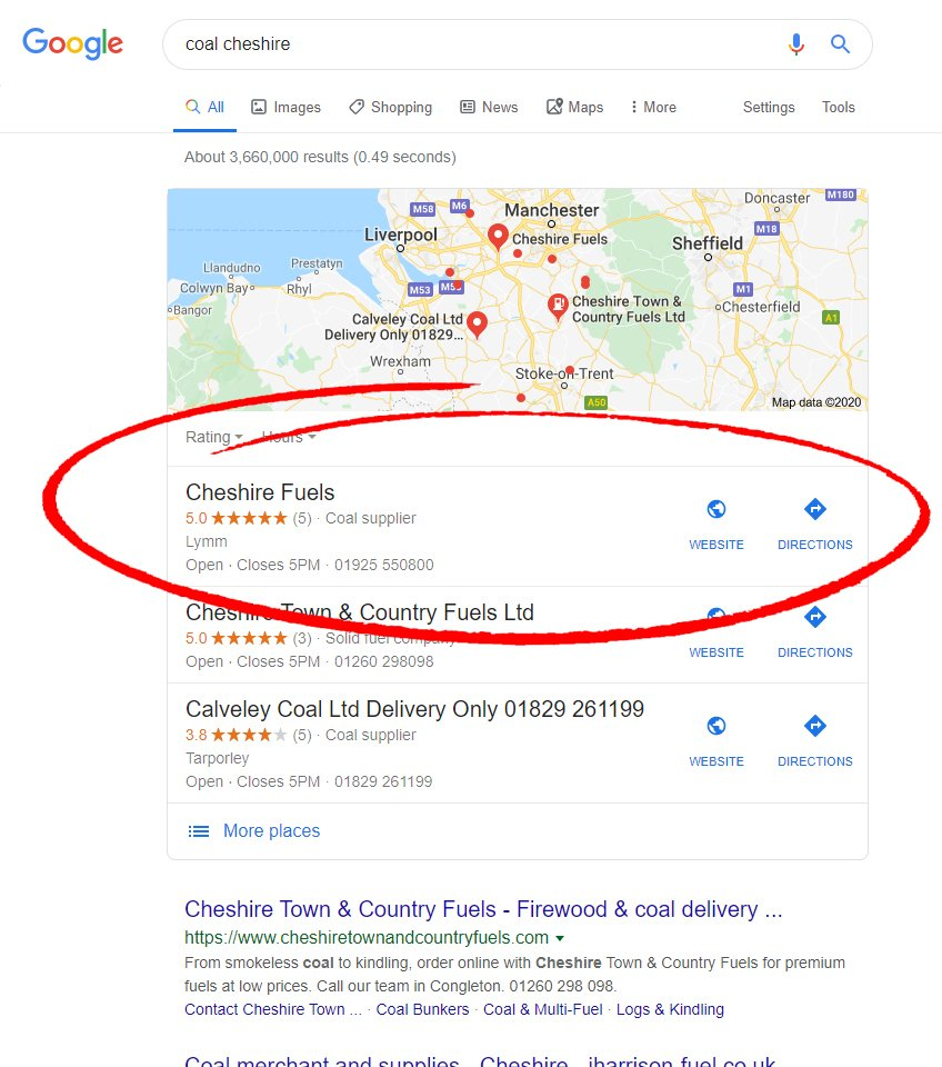 seo results for coal suppliers