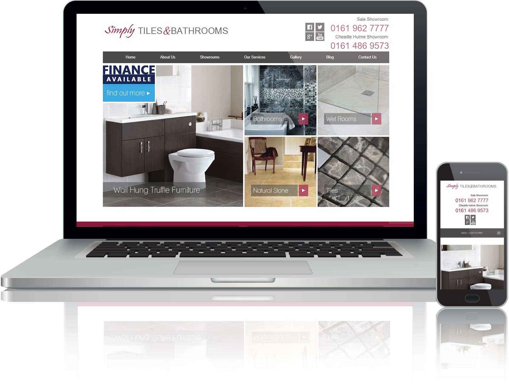 website design and seo for simply tiles and bathrooms