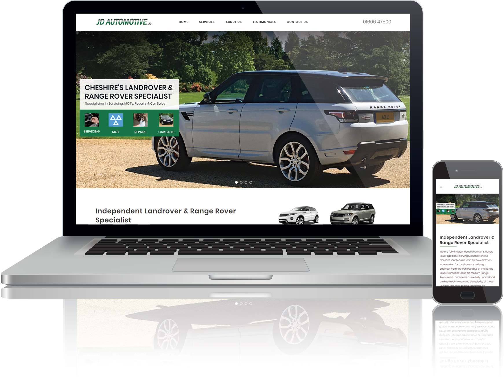 website design for a local car garage