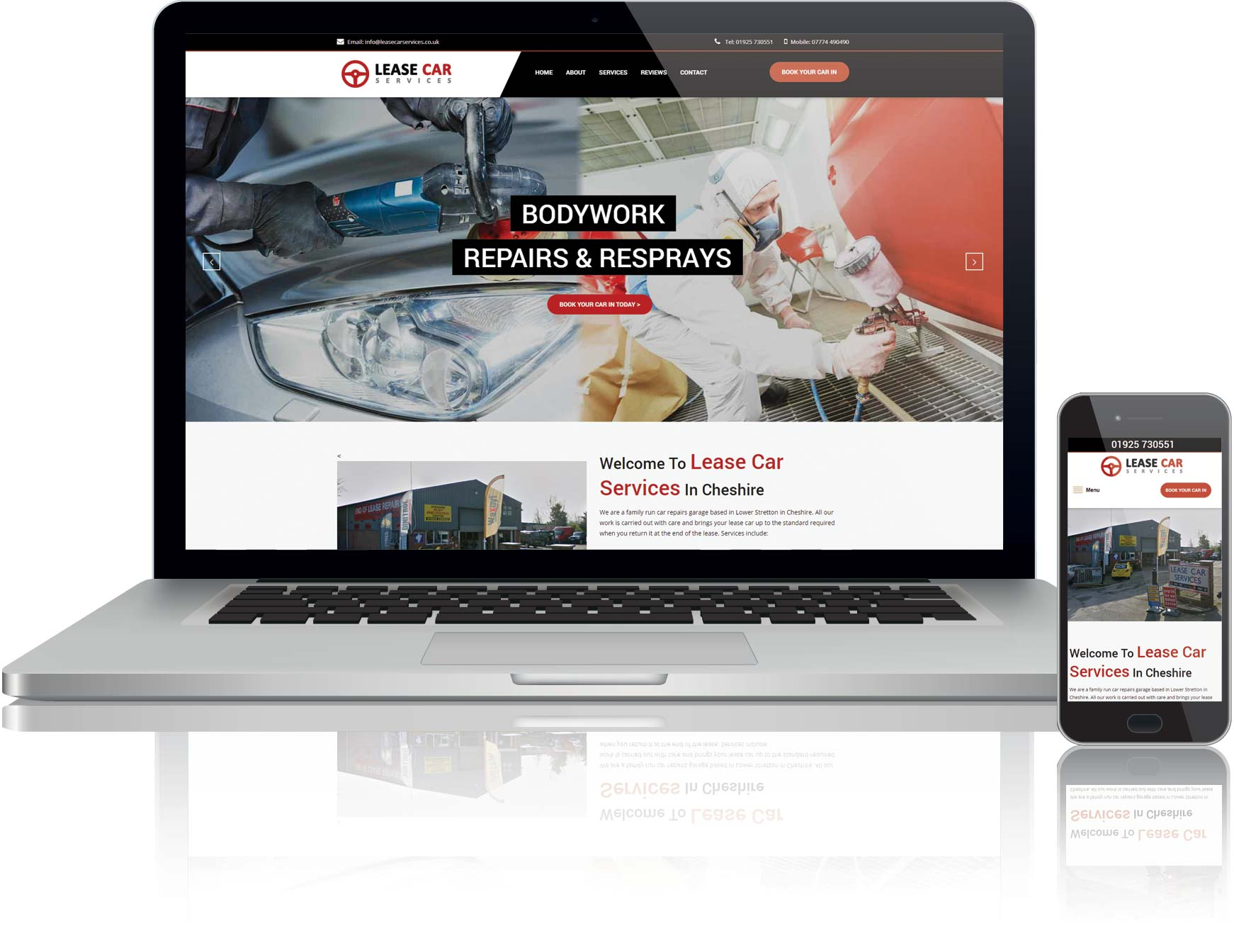 website design and seo for car garage in cheshire