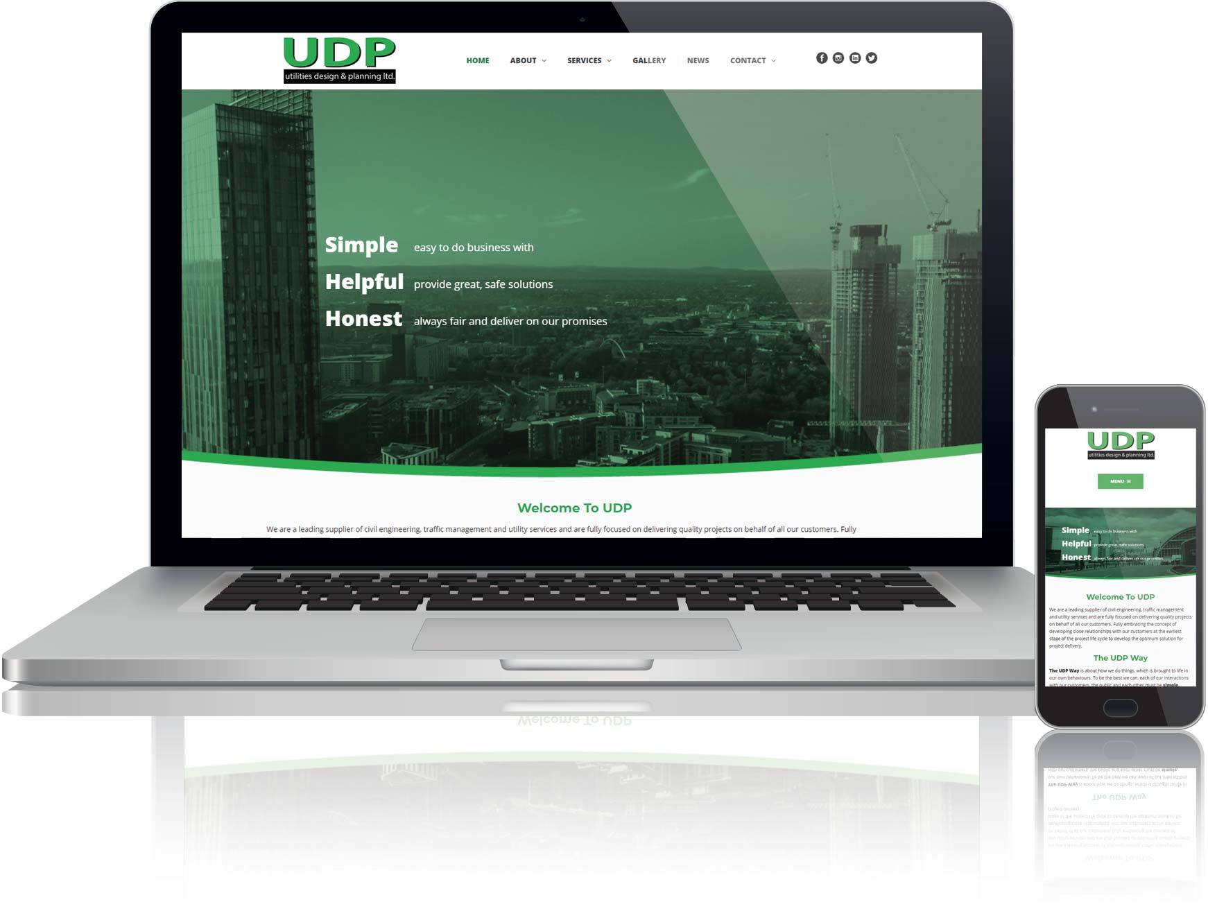 website design and seo for udp in manchester