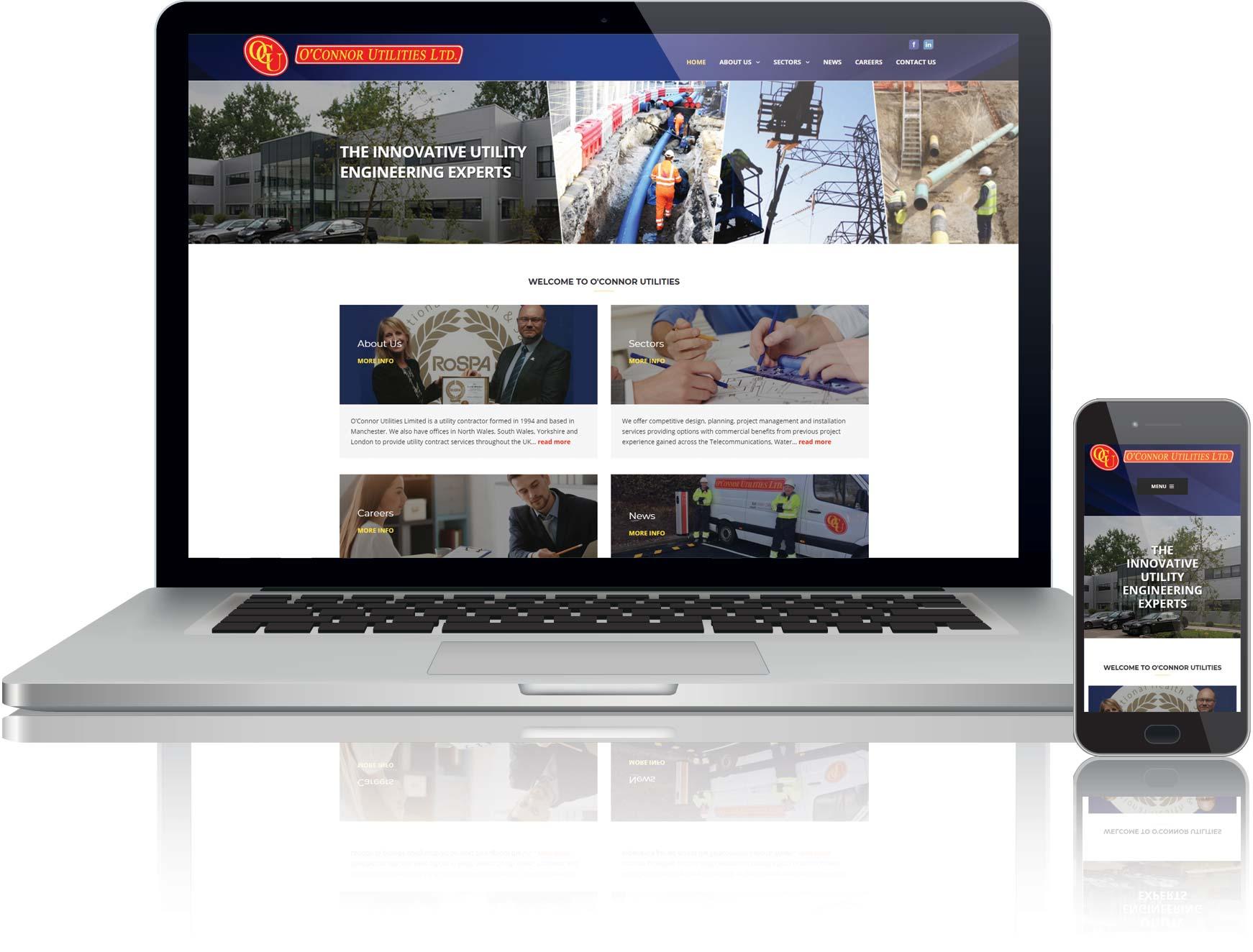 website design for oconnor utilities