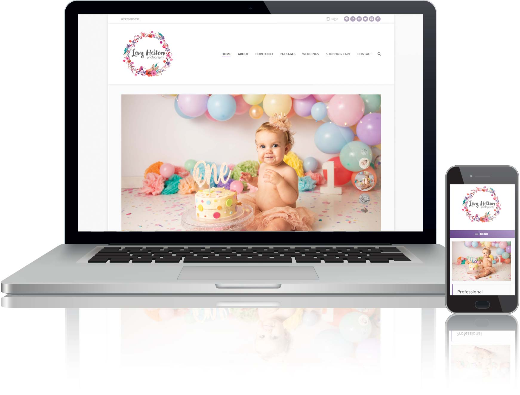 website design for online shop selling photography