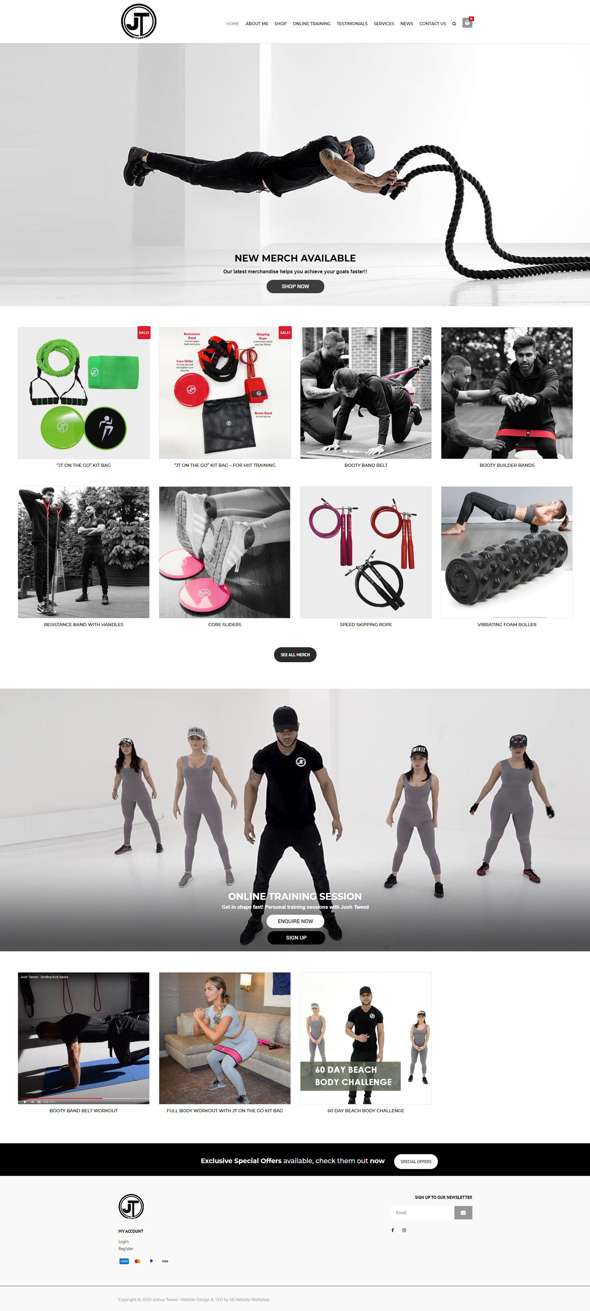 online shops for personal trainers