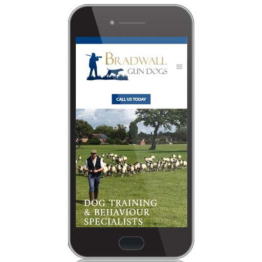website design and online shop for bradwall gundogs