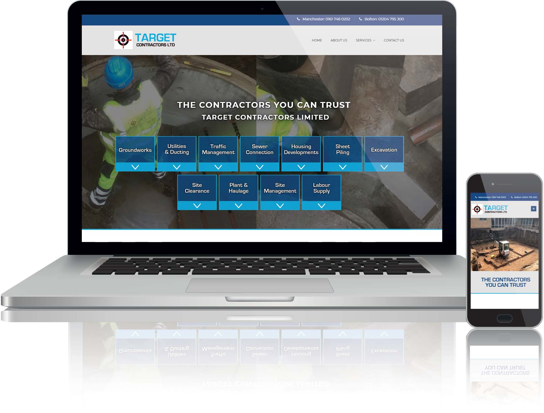 website design for contracting business