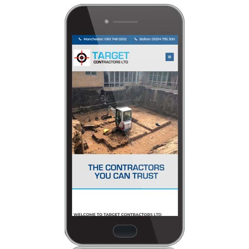 website design for target contractors
