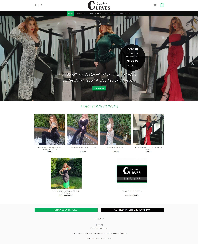 Website Design For online-clothing shop we are curves